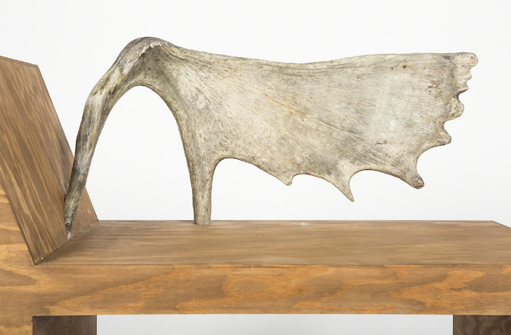 Rick Owens.Tomb stag chair (left), 2013