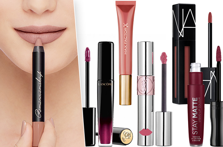 Фото: Romanovamakeup. Помады: Lancôme L'absolu Lacquer, Max Factor Colour Elixir Cushion, YSL Beauté Volupté Liquid Colour Balm, Nars Powermatte Lip Pigment, Rimmel London Stay Matte Liquid Lip Сolour.