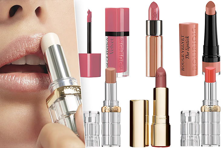 Фото: L'Oréal Paris. Помады: Bourjois Rouge Edition Velvet, Kiko Milano Velvet Passion,Bourjois Rouge Velvet the lipstick, L'Oreal Paris Color Riche Shine, Clarins Joli Rouge, L'Oreal Paris Color Riche Shine.