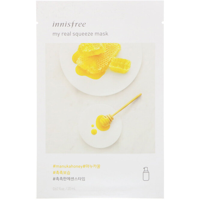 Маска My Real Squeeze Mask EX, Manuka Honey, Innisfree, 155 руб.