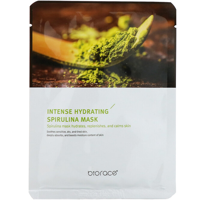 Маска Intense Hydrating Spirulina Mask, Biorace, 155 руб.