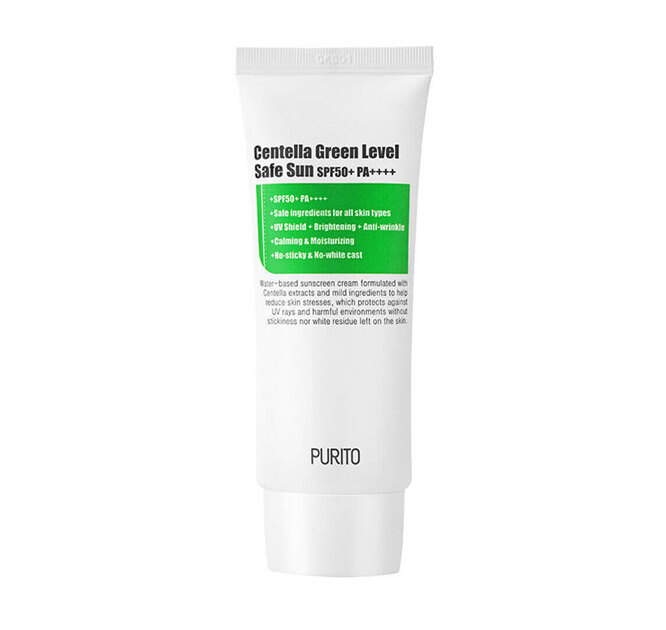 Солнцезащитный крем Centella Green Sun Level Safe SPF50+PA++++, Purito