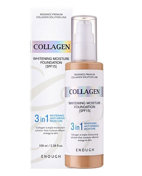 Enough Collagen Whitening Moisture Foundation 3 in 1 SPF 15, 599 руб.