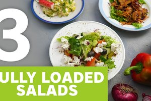 3 fully loaded salads