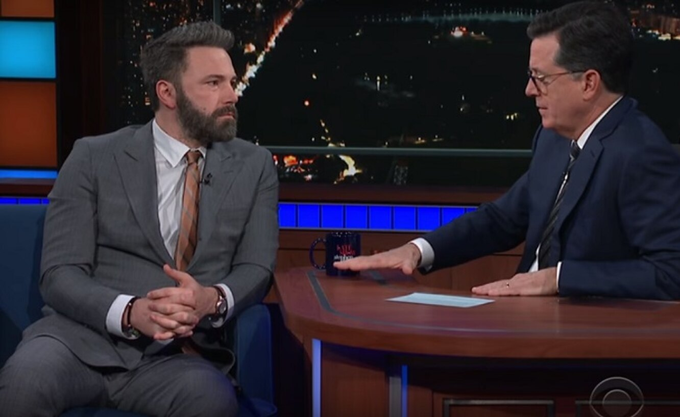 Бен Аффлек на The Late Show