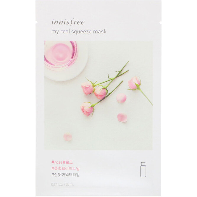 Маска My Real Squeeze Mask EX, Rose, Innisfree, 155 руб.