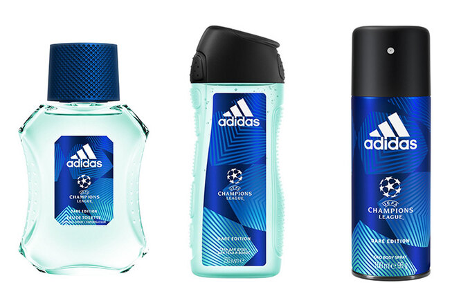 Набор UEFA Champions League Dare Edition (гель для душа, дезодорант и туалетная вода), Adidas